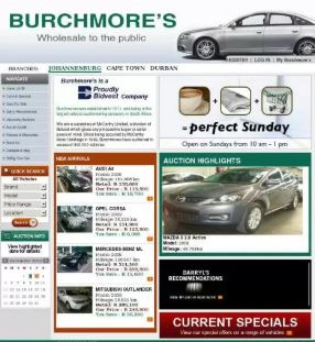 Burchmores Auction Lists Of Cars For Sale Car Auctions Africa