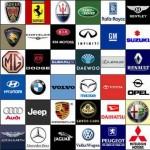 Various vehicle manufacturer logos
